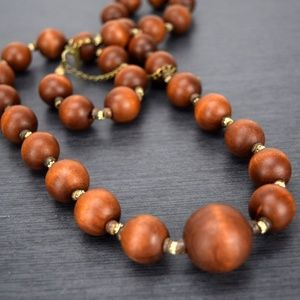 Lane Bryant Wooden Bead Long Necklace